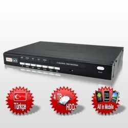 Redrock RR104 4 Kanal Full D1 100 FPS Kayıt Cihazı