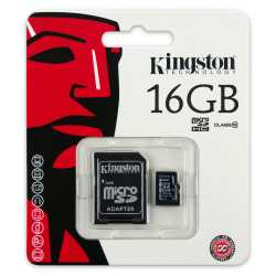 Kingston 16 GB Micro SDHC Kart Class 10