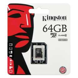 Kingston 64GB Micro SD Class 10 CL10 SDCX10/64GB