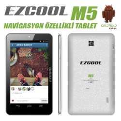 Ezcool M5 1GB 8GB DualCam 7 GPS HD Beyaz