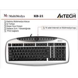 A4 Tech KB21 Klayve / Siyah / USB